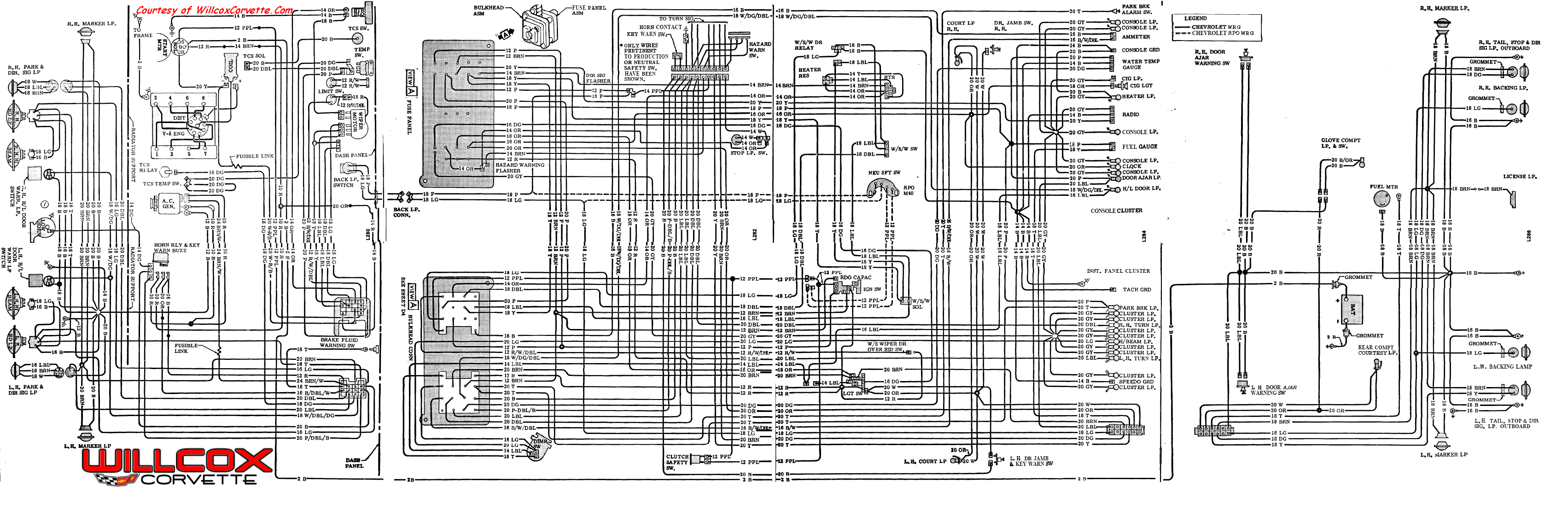 1971 Corvette Wiring Diagram Another Blog About 71 Wiper Motor Wire Schematic Tracer Willcox Inc Rh Repairs Willcoxcorvette Com Radio