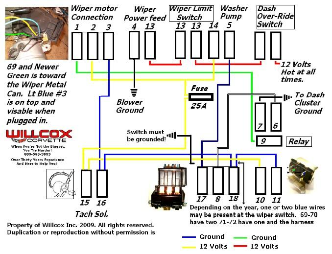 wiper motor wiring - corvetteforum - chevrolet corvette forum, Wiring diagram