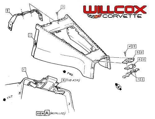 1968 1976 Corvette Parking Brake Console Extension Installation on 1965 mustang diagram