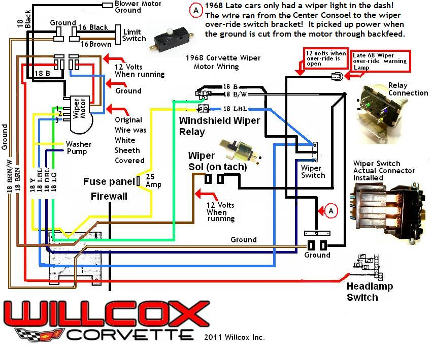 68 corvette wiring diagram  | 3600 x 1076