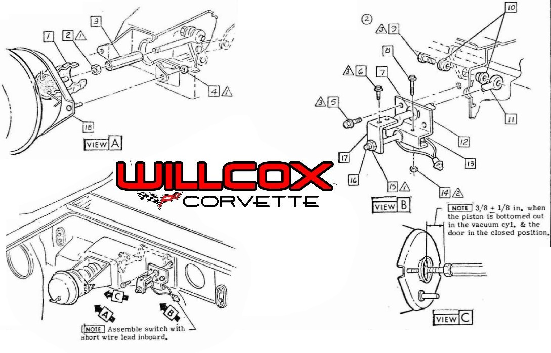 wiper door limit switch. w/o harness 68-72 | willcox corvette corvette wiper wiring diagram