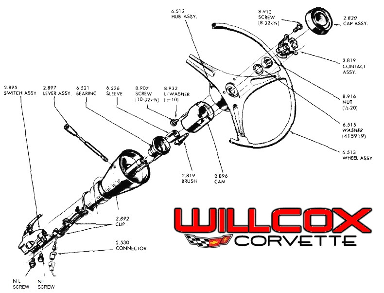 1963 corvette steering column diagram