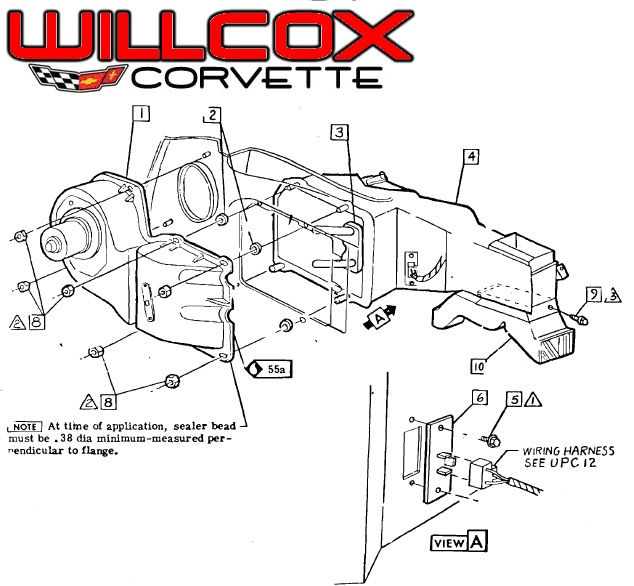 1968 1976 Corvette Heater Blower Resistor No Ac 68 76 Location on 2000 cadillac deville engine diagram