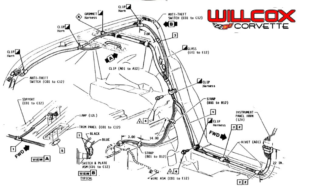 1978 1982 corvette t top rear lock plate wire harness location 78 corvette wiring harness corvette wiring diagrams for diy car corvette wiring harness at edmiracle.co