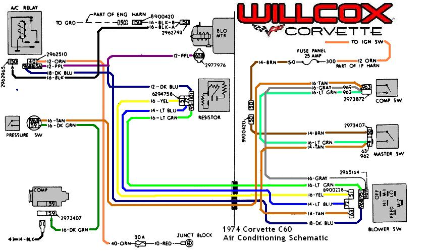 1974 corvette corvette air conditioning schematic high speed switch for fan blower corvetteforum chevrolet Corvette Schematics Diagrams at crackthecode.co