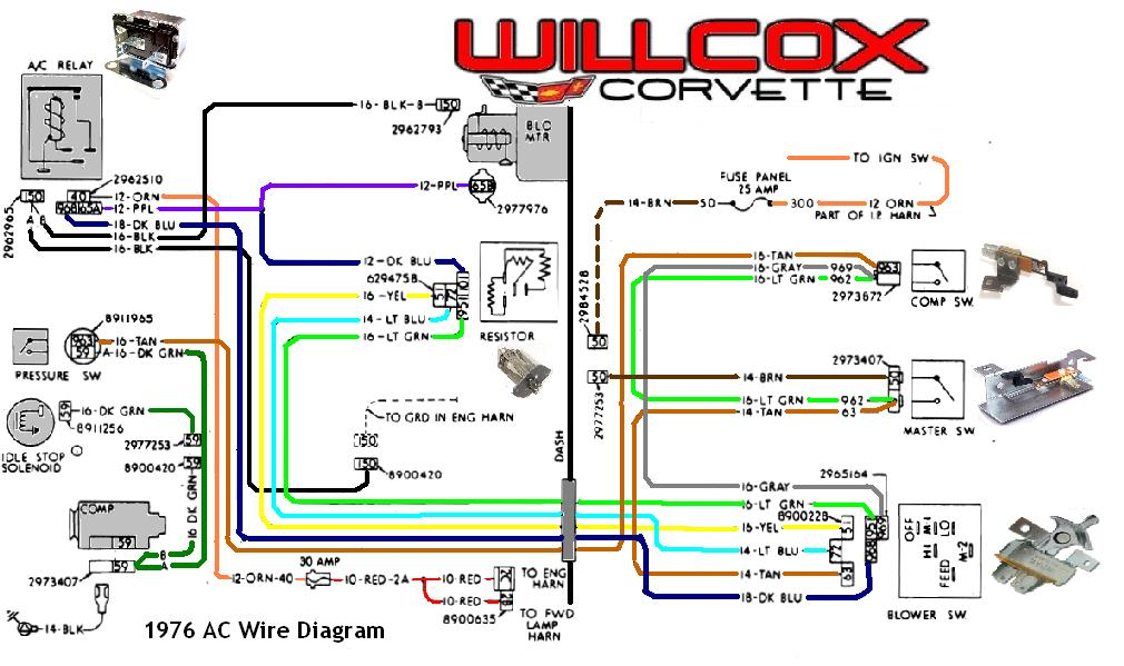 1976 Corvette Heater With A/C Wire Harness | Willcox Corvette, Inc.Willcox Corvette, Inc.