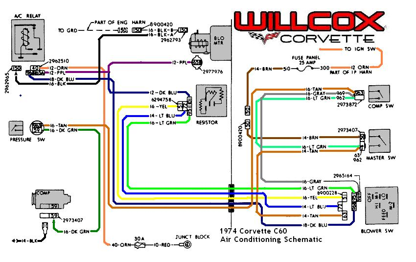 1974 corvette corvette air conditioning schematic 1980 Trans AM Diagram 97 Trans AM Wiring Diagram