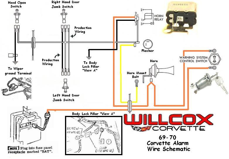 1969 1970 corvette corvette wire schematic alarm system 1971 corvette horn relay wiring diagram corvette wiring diagrams 1981 corvette wiring diagram at gsmx.co