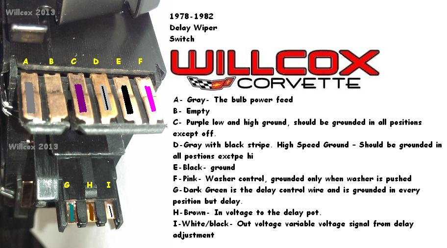 1978-1982 corvette wiper switch testing w/pulse wipers | willcox corvette,  inc.  willcox corvette, inc.