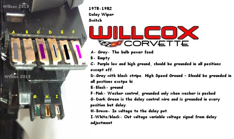 Corvette Wiper Switch Testing Wpulse Wipers on 1984 Corvette Wiring Diagram Colored