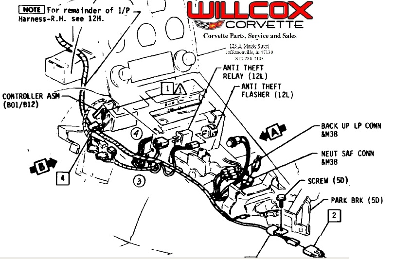 1964 Corvette Wiper Motor Diagram on anti theft relay location