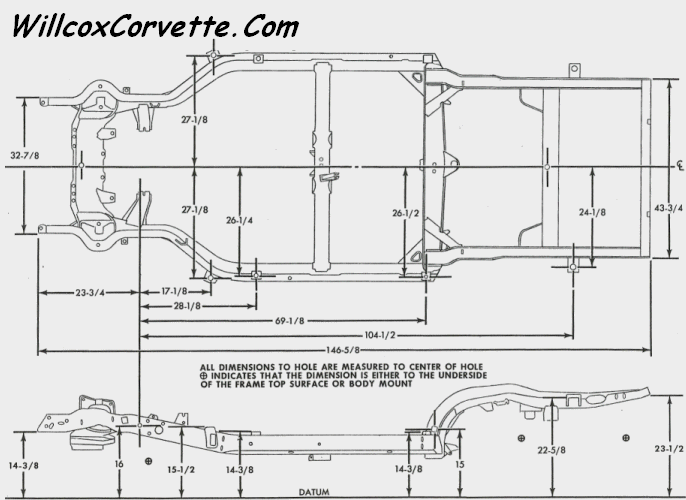 c4 corvette suspension dimensions
