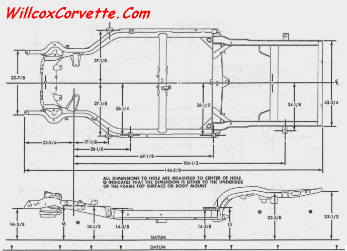 Corvette Frame Dimension Charts 1963 and 1968-1982 | Willcox ...