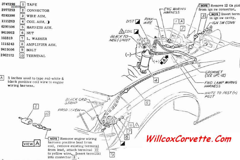 1969-1971 corvette transistor ignition wiring | willcox ... 1972 corvette ignition wiring diagram #3