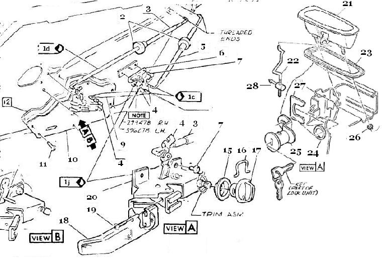 c3 corvette door lock diagram  corvette  auto parts