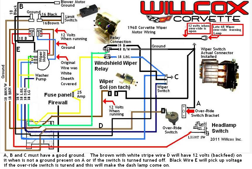 1968 corvette wiper motor testing and schematic 1968 only revised 1968 corvette wiper motor testing and schematic 1968 only revised 1968 corvette wiper motor wiring diagram at bayanpartner.co