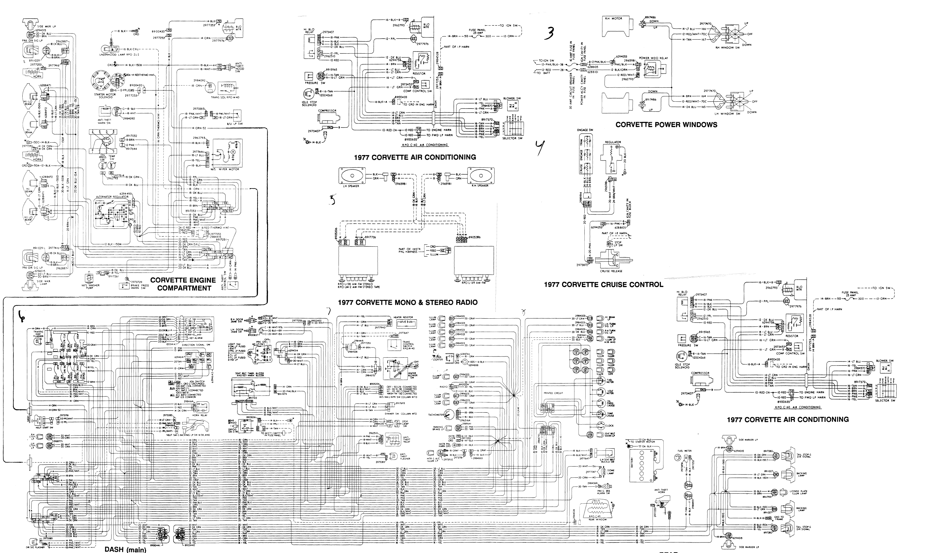 Mack Wiring Diagram Custom Project Gu713 1977 Corvette Dash 33 Cv713
