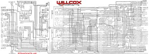 1969 corvette wiring diagram main and engine compartment correct rh repairs willcoxcorvette com 2015 corvette wiring diagram 1979 Corvette Alternator Wiring Diagram