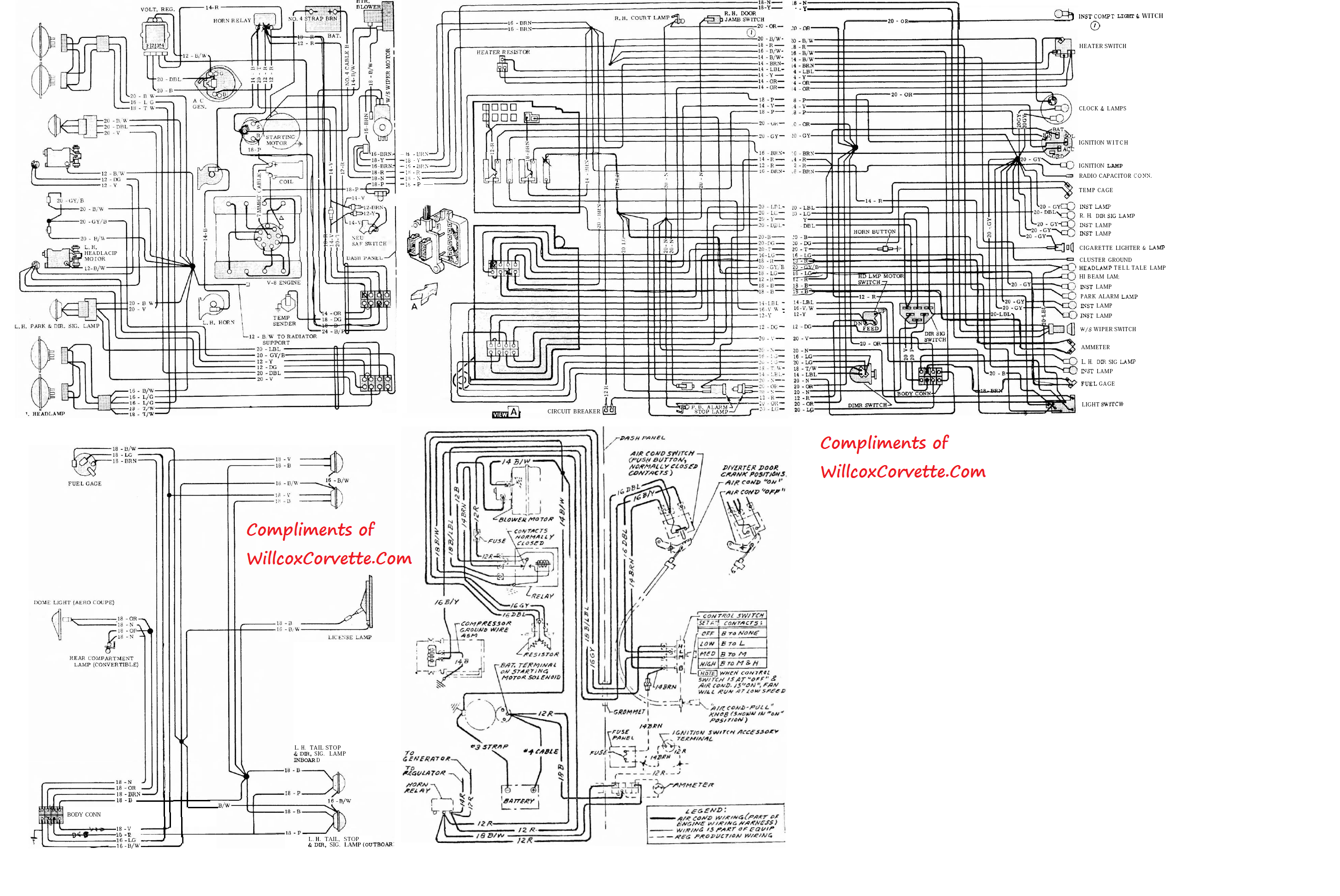 1972 corvette wiring schematic