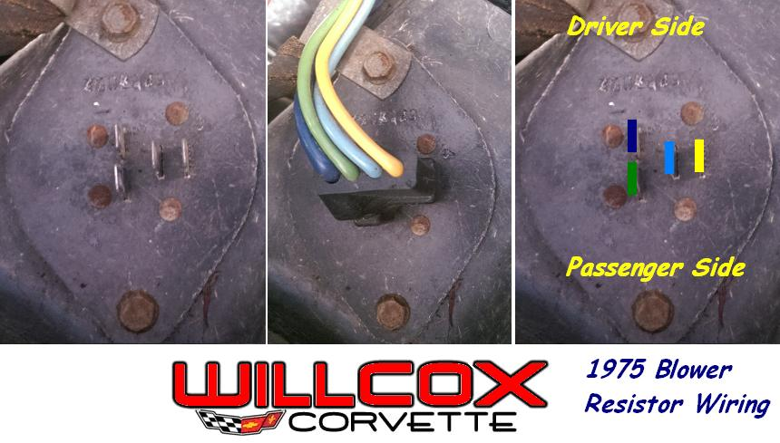 1975 Heater Resistor Wiring | Willcox Corvette, Inc.