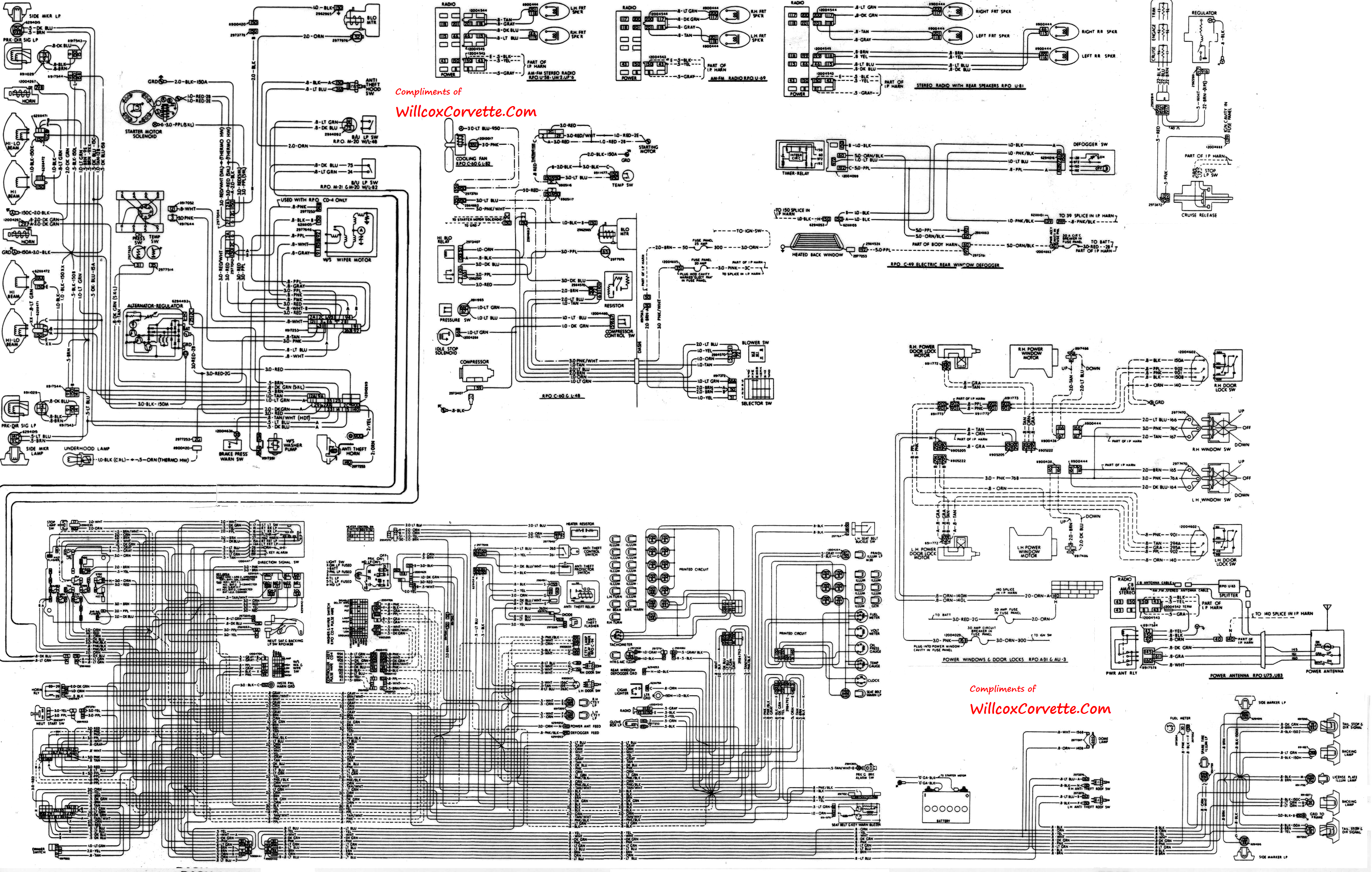 1979 corvette tracer wiring diagram tracer schematic 1982 corvette ecm wiring  diagram 1982 corvette alternator wiring diagram