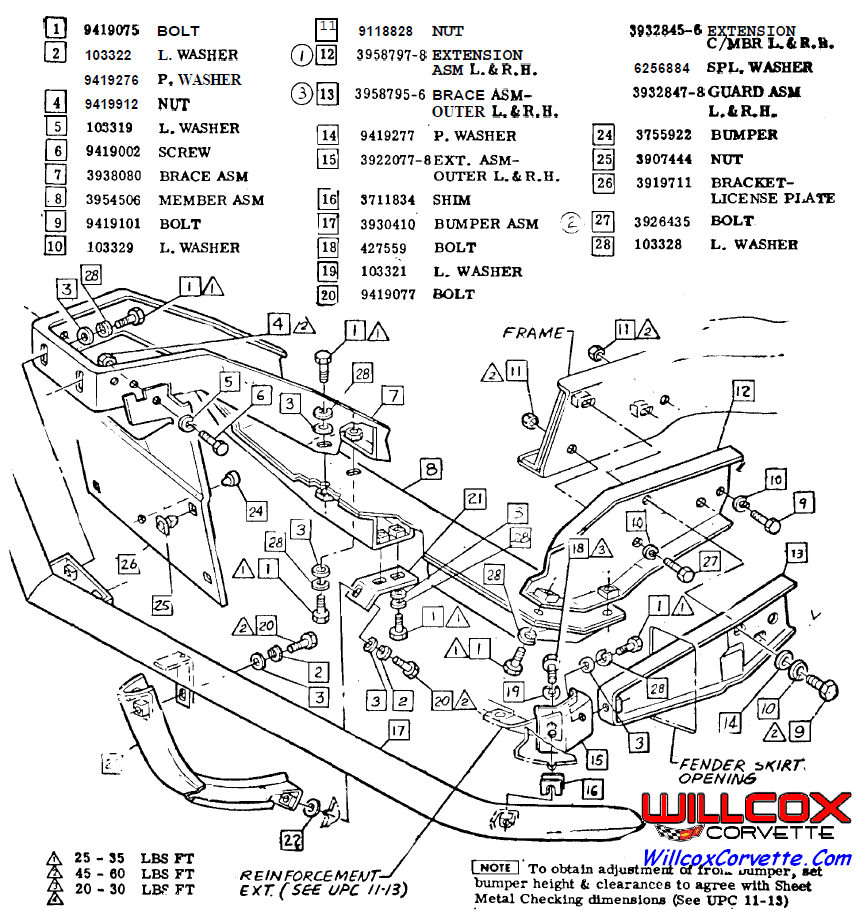 1969 Corvette Front Bumper Installation on 1980 Corvette Headlight Vacuum Diagram
