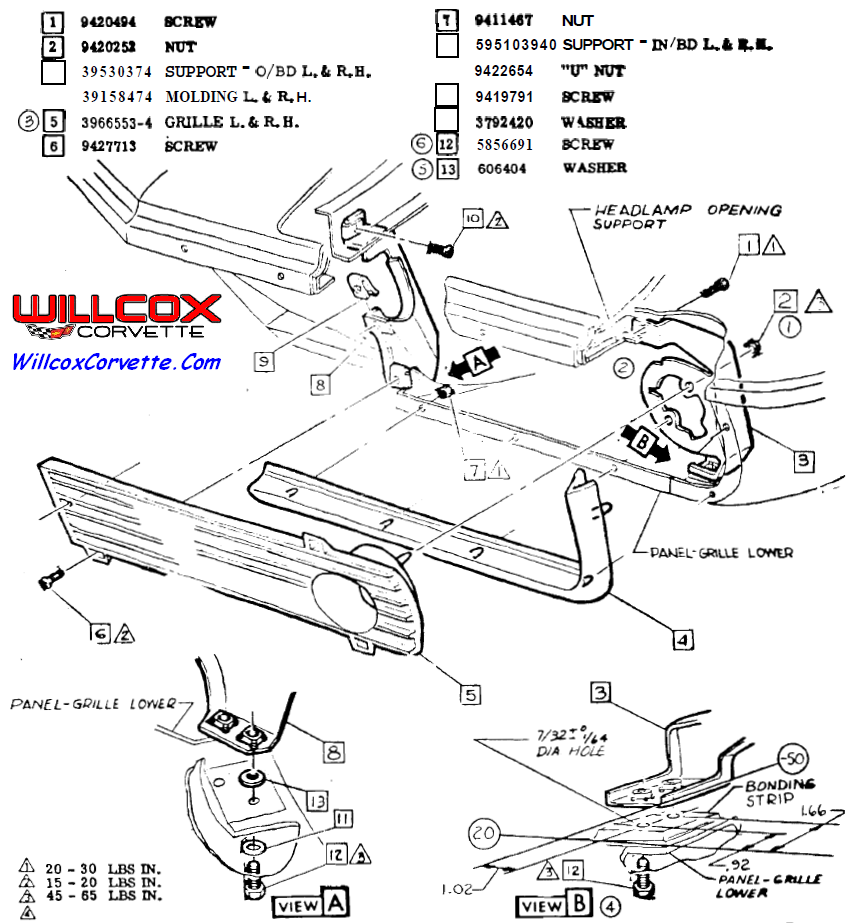 1969 Corvette Front Grille Installation on 1966 mustang wiring schematic