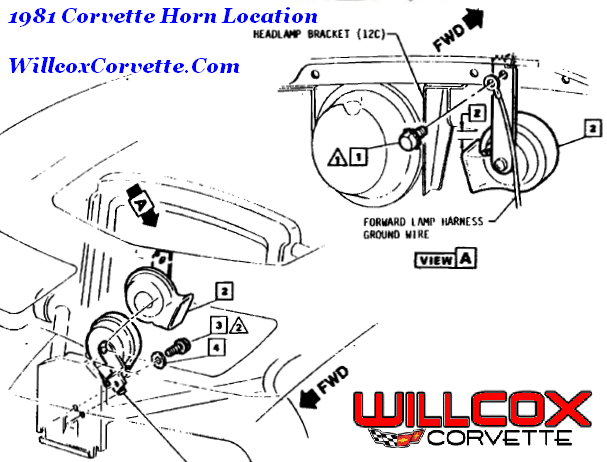 1981 Corvette Horn Location