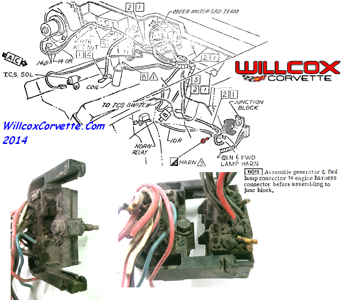 Bulk Head Connection 19681977 General View Firewall Willcox Rhrepairswillcoxcorvette: Firewall Connector Wiring Diagram 1980 At Gmaili.net