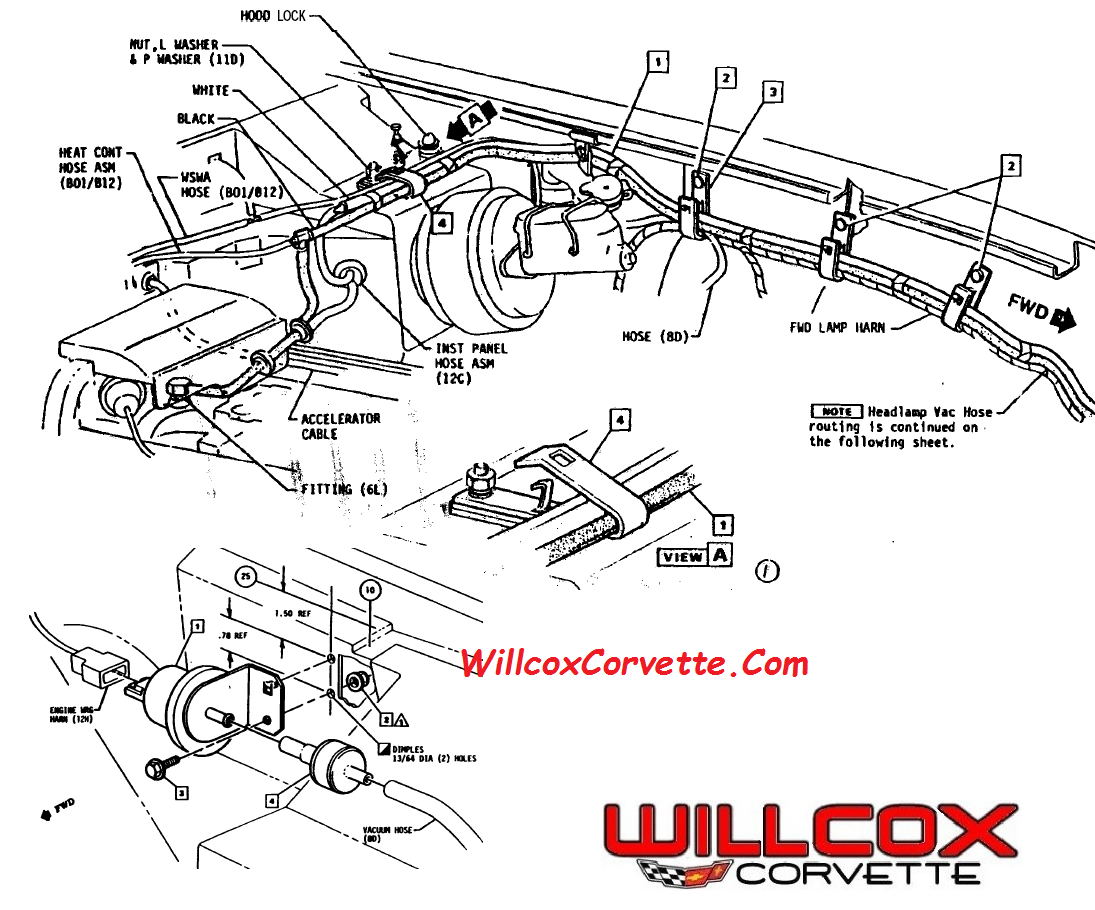 1980 Headlight Vacuum Question Corvetteforum Chevrolet Corvette 92 F250 Engine Diagram Forum Discussion