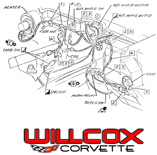 1970 1972 wiper motor wire routing 1972 wiring harness wiper pump wires? help corvetteforum 75 Corvette Engine Wiring at gsmx.co