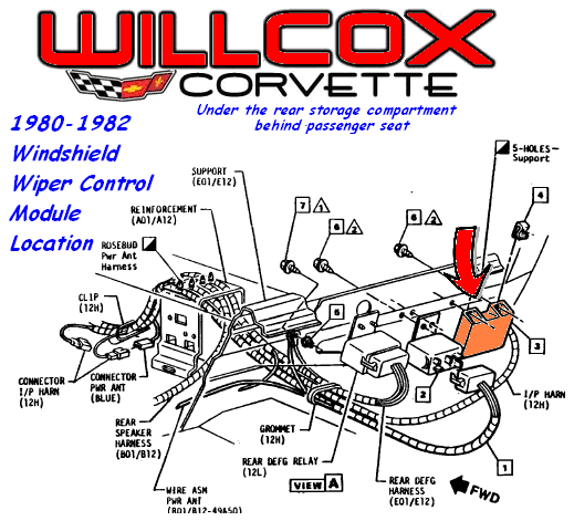 19801982 Corvette Windshield Wiper Control Module Location Delay. GM. GM Windshield Wiper Delay Wiring Diagram At Eloancard.info