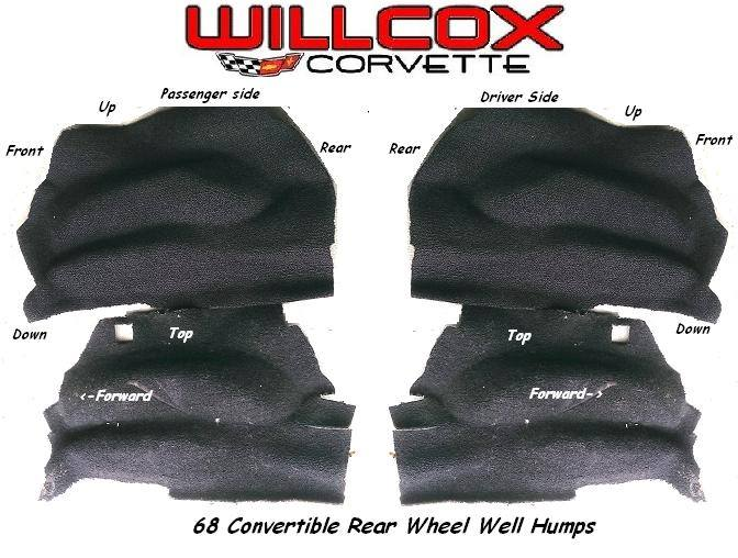 carpet rear wheel humps alignment guide