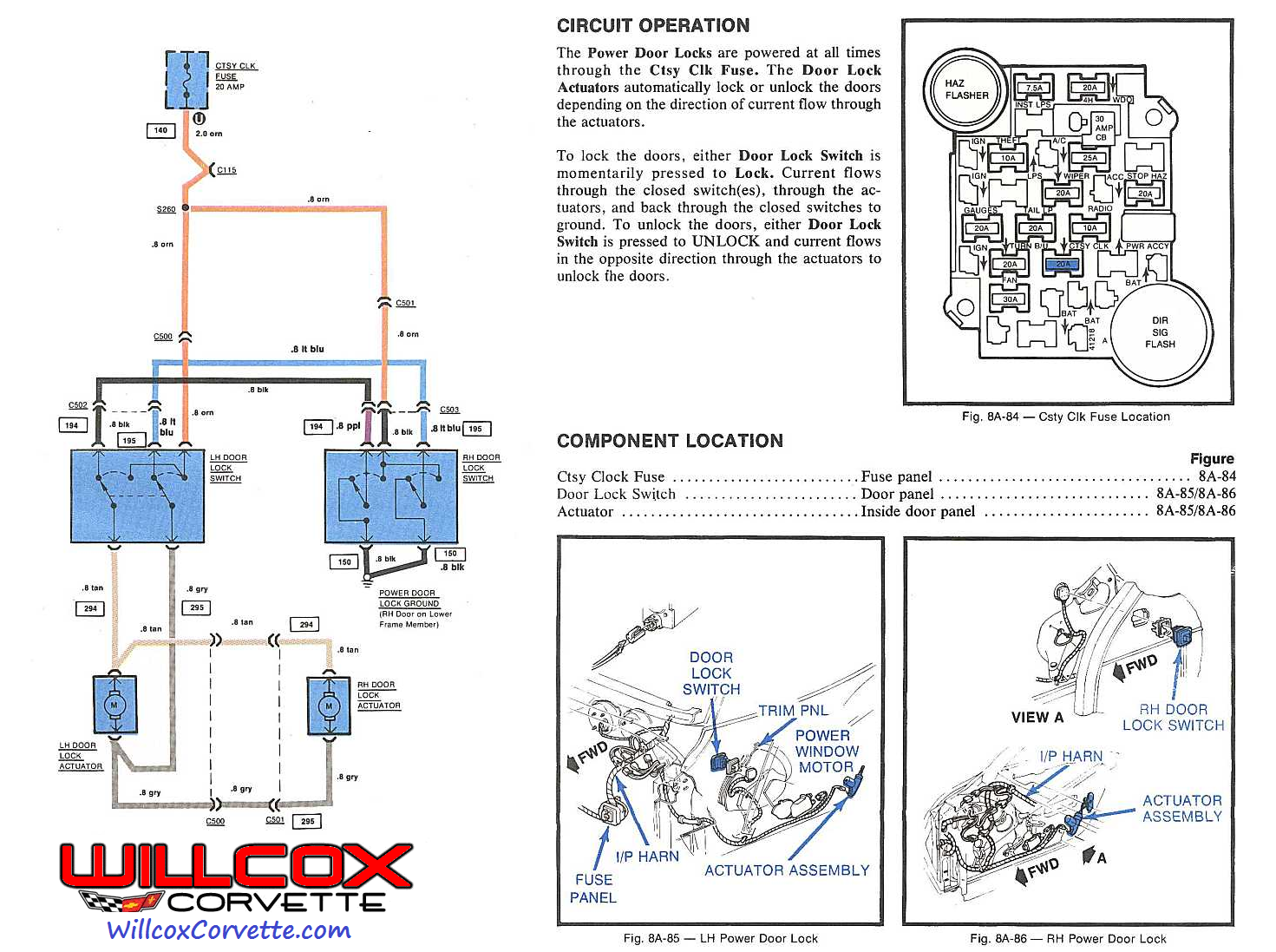 1976 Chevy Corvette Wiring Diagram Circuit And Hub 1974 Fuse Box Power Door Lock 79 42 1979 Schematic