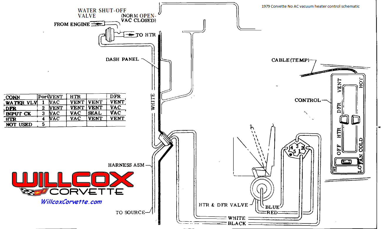 1979 Corvette No Air Heater Control Vacuum Schematic