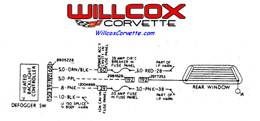 81 rear defroster wiring corvetteforum chevrolet corvette forumschematic of the rear defrost system willcox