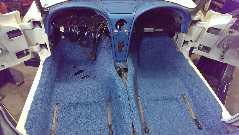 1965 Corvette Interior Restoration Pictures  Carpet  Seat