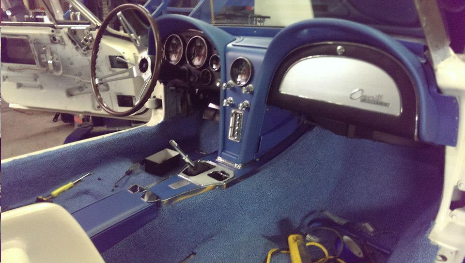 dash pad front carpet done