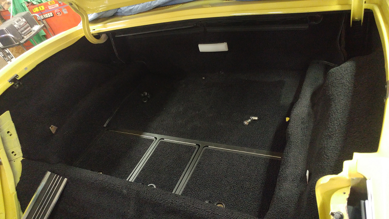rear carpet installed 2 1969