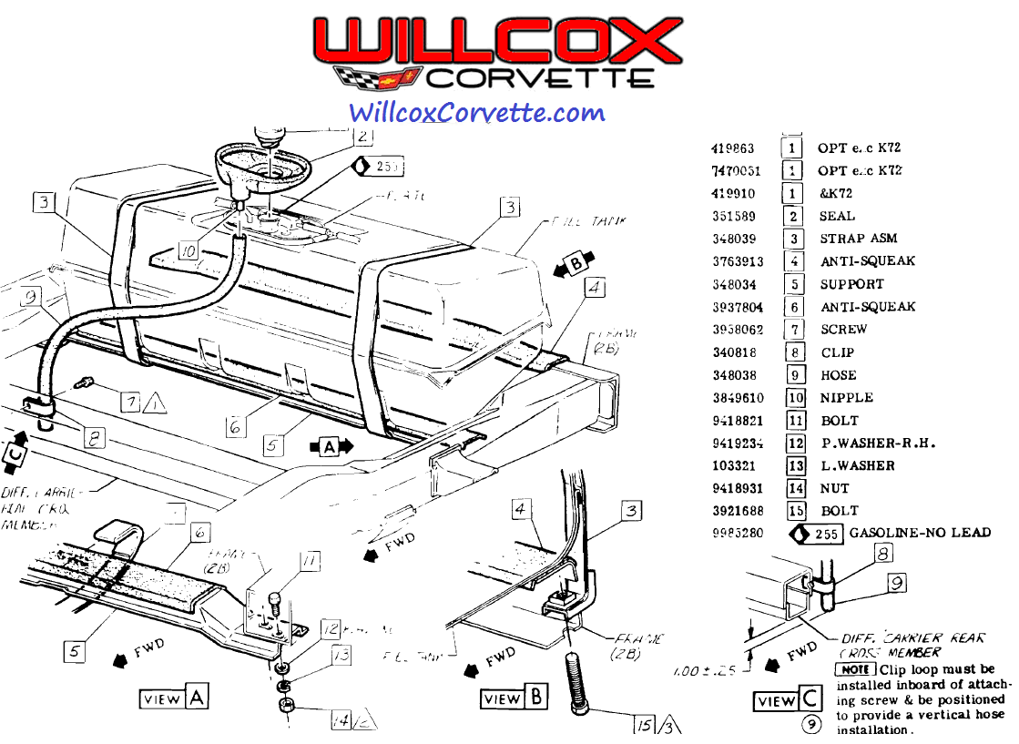 2002 Corvette Fuel Tank Diagram Trusted Wiring 2001 Filter 1975 1977 Gas Installation And Mounting 1985