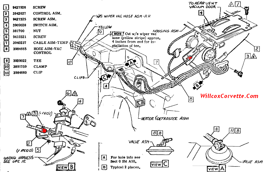 1988 corvette console diagram