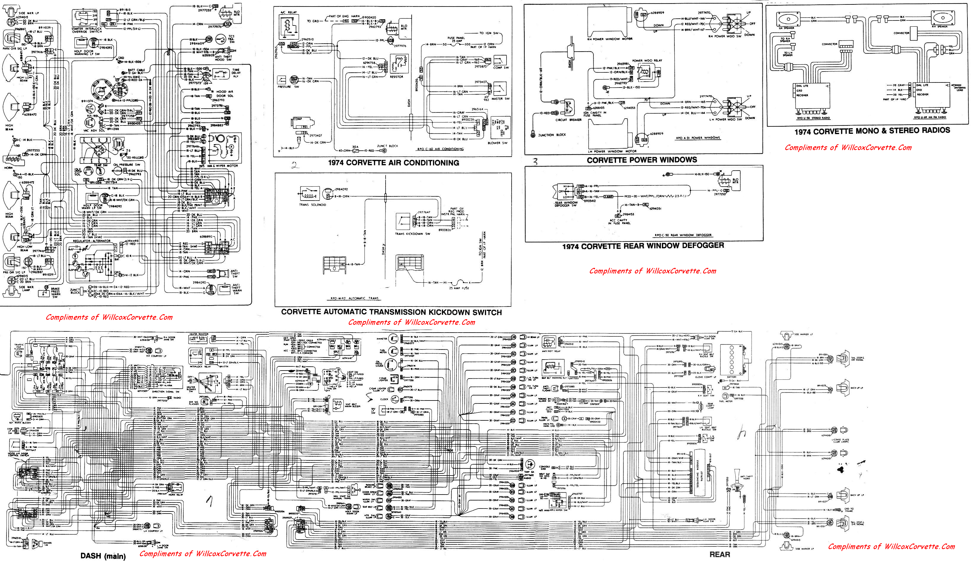 1974 Corvette Factory Wiring Schematic Willcox Inc Diagram